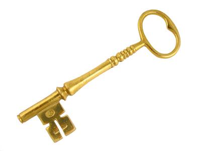 large gold skeleton key